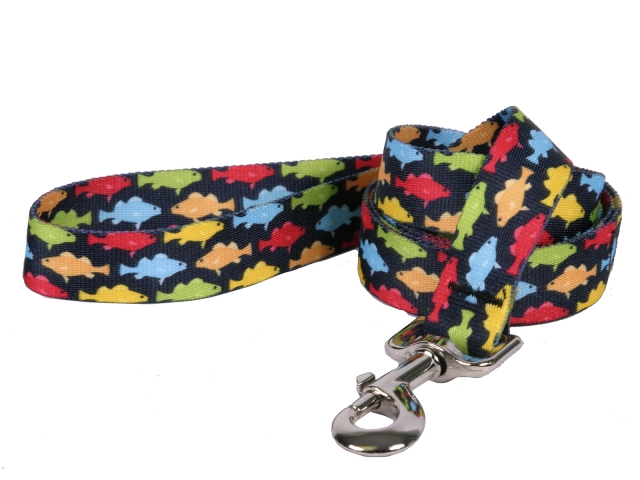 Rainbow Fish Black Leash